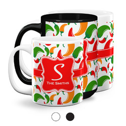 Colored Peppers Coffee Mugs (Personalized)