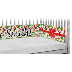 Colored Peppers Crib Bumper Pads (Personalized)
