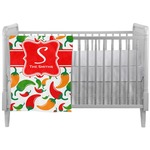 Colored Peppers Crib Comforter / Quilt (Personalized)