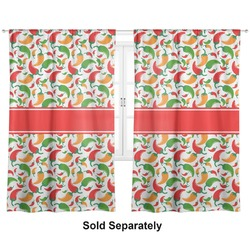 "Colored Peppers Curtains - 20""x63"" Panels - Unlined (2 Panels Per Set) (Personalized)"