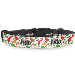 Colored Peppers Deluxe Dog Collar (Personalized)