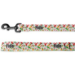 Colored Peppers Deluxe Dog Leash (Personalized)