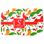 Colored Peppers Dish Drying Mat w/ Name and Initial