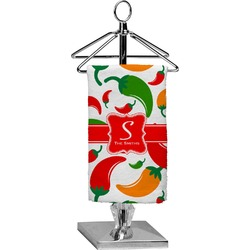 Colored Peppers Finger Tip Towel - Full Print (Personalized)