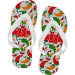 Colored Peppers Flip Flops (Personalized)