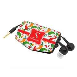 Colored Peppers Genuine Leather Cord Wrap (Personalized)