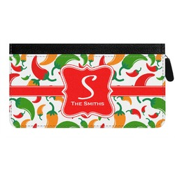 Colored Peppers Genuine Leather Ladies Zippered Wallet (Personalized)
