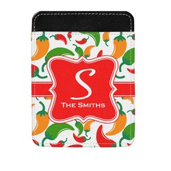 Colored Peppers Genuine Leather Money Clip (Personalized)