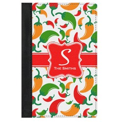 Colored Peppers Genuine Leather Passport Cover (Personalized)