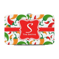 Colored Peppers Genuine Leather Small Framed Wallet (Personalized)