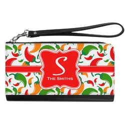 Colored Peppers Genuine Leather Smartphone Wrist Wallet (Personalized)