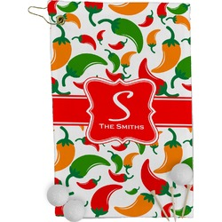 Colored Peppers Golf Towel - Full Print (Personalized)