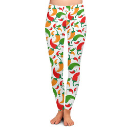 Colored Peppers Ladies Leggings - Large (Personalized)