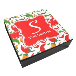 Colored Peppers Leatherette Keepsake Box - 3 Sizes (Personalized)