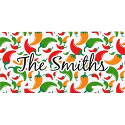 Colored Peppers Front License Plate (Personalized)