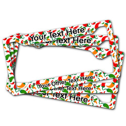 Colored Peppers License Plate Frame (Personalized)