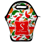 Colored Peppers Lunch Bag w/ Name and Initial