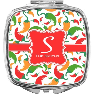 Colored Peppers Compact Makeup Mirror (Personalized)
