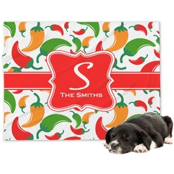 Colored Peppers Minky Dog Blanket - Large  (Personalized)