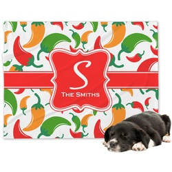 Colored Peppers Minky Dog Blanket - Regular (Personalized)