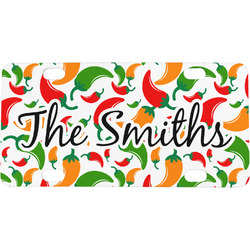 Colored Peppers Mini / Bicycle License Plate (Personalized)