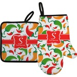 Colored Peppers Oven Mitt & Pot Holder (Personalized)