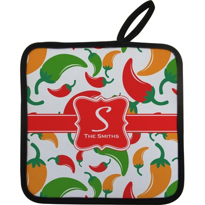 Colored Peppers Pot Holder (Personalized)