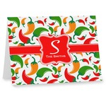Colored Peppers Note cards (Personalized)
