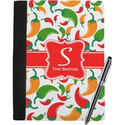 Colored Peppers Notebook Padfolio (Personalized)
