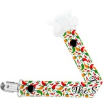 Colored Peppers Pacifier Clips (Personalized)