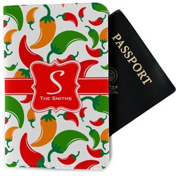 Colored Peppers Passport Holder - Fabric (Personalized)