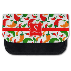 Colored Peppers Canvas Pencil Case w/ Name and Initial