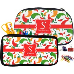 Colored Peppers Pencil / School Supplies Bag (Personalized)