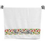 Colored Peppers Bath Towel (Personalized)