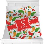 Colored Peppers Minky Blanket (Personalized)