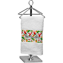 Colored Peppers Cotton Finger Tip Towel (Personalized)