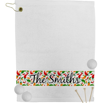 Colored Peppers Golf Towel (Personalized)