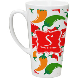 Colored Peppers Latte Mug (Personalized)