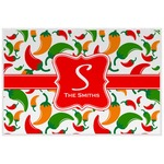 Colored Peppers Laminated Placemat w/ Name and Initial