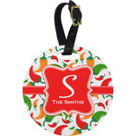 Colored Peppers Round Luggage Tag (Personalized)