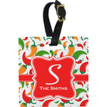 Colored Peppers Square Luggage Tag (Personalized)