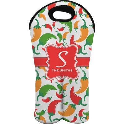 Colored Peppers Wine Tote Bag (2 Bottles) (Personalized)