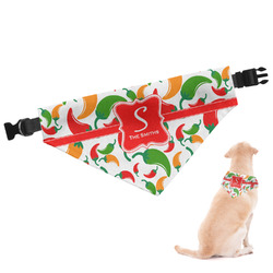 Colored Peppers Dog Bandana (Personalized)