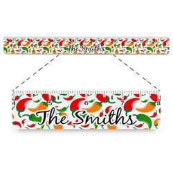"""Colored Peppers Plastic Ruler - 12"""" (Personalized)"""