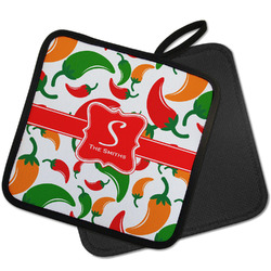 Colored Peppers Pot Holder w/ Name and Initial
