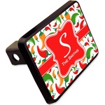 """Colored Peppers Rectangular Trailer Hitch Cover - 2"""" (Personalized)"""