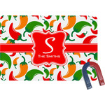 Colored Peppers Rectangular Fridge Magnet (Personalized)