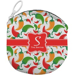 Colored Peppers Round Coin Purse (Personalized)
