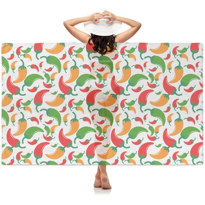 Colored Peppers Sheer Sarong (Personalized)