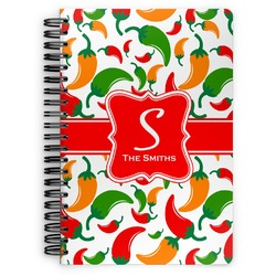 Colored Peppers Spiral Notebook (Personalized)